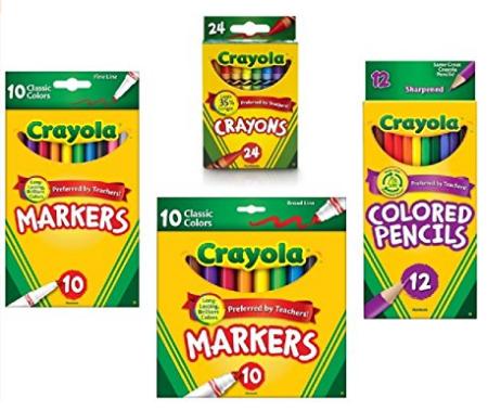 Crayola Crayons 24 Count Crayola Colored Pencils in Assorted